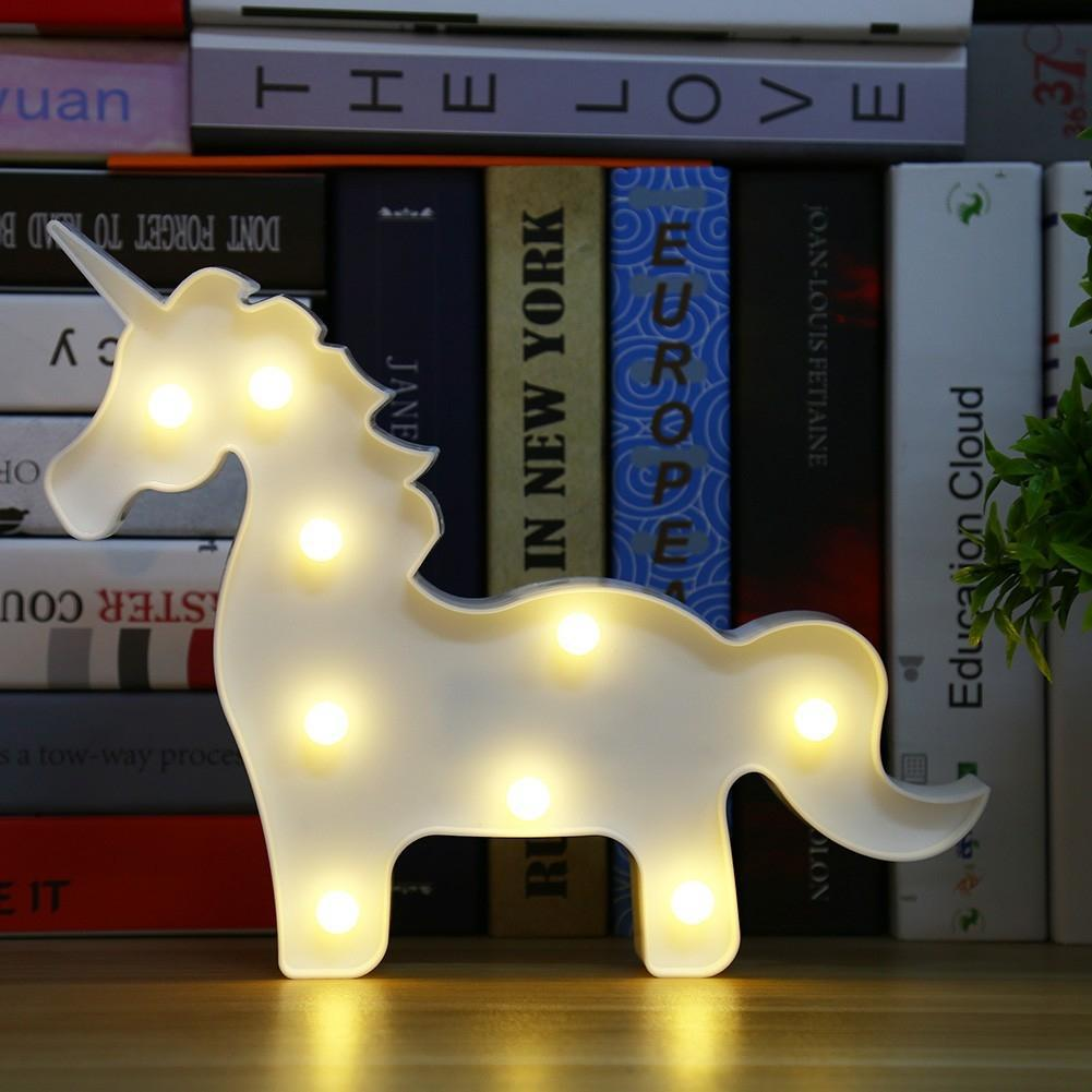 SOLLED Night Light Cute Unicorn LED Night Light Toy Warm White for Baby Kids Bedroom Home Decorative Night Lamp