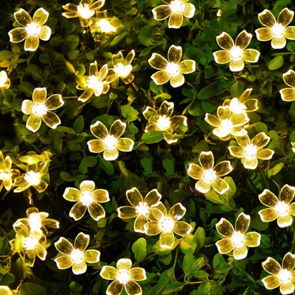 Flower Garlands 50 Led String Light Outdoor Fairy Lights Solar Lamps for Garden Waterproof Outdoor Lighting Home Yard ChristmasFlower Garlands 50 Led String Light Outdoor Fairy Lights Solar Lamps for Garden Waterproof Outdoor Lighting Home Yard Christmas