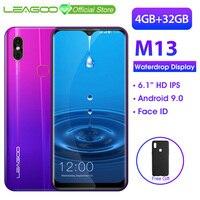 LEAGOO M13 Android 9,0 смартфон 6,1 ''HD ips дисплей капли воды 4 Гб ОЗУ 32 Гб ПЗУ MT6761 3000 мАч Двойные камеры 4G мобильный телефон