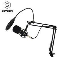 Metal Capacitive Professional KTV Microphone Computer 3 5mm Condenser Audio Studio Vocal Recording Mic Karaoke Metal