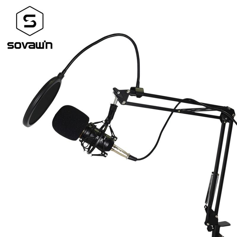Metal Computer Capacitive Professional KTV Microphone BM 800 PC 3.5mm Condenser Audio Studio Vocal Recording Mic Karaoke Stand