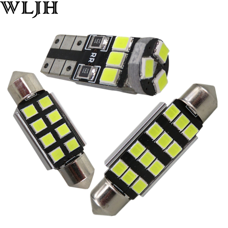 WLJH 18x Canbus Car LED Reading Courtesy Trunk Interior Lighting Kit for BMW E90 E91 2006-2010 Sedan Coupe 328i 335i M3 330i 2pcs 12v 31mm 36mm 39mm 41mm canbus led auto festoon light error free interior doom lamp car styling for volvo bmw audi benz