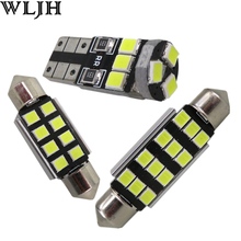 WLJH 18x Canbus Car LED Reading Courtesy Trunk Interior Lighting Kit for BMW E90 E91 2006-2010 Sedan Coupe 328i 335i M3 330i