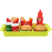 Cute Kitchen Toys Pretend Play Food Hamburg Fries Educational Simulation Drink Food Kitchen Set for Kids Tableware Toy