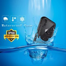 For iPhone XS XR Redpepper Shellbox IP68 Waterproof Case for X max Water/Dirt/Diving Underwater Armor 20