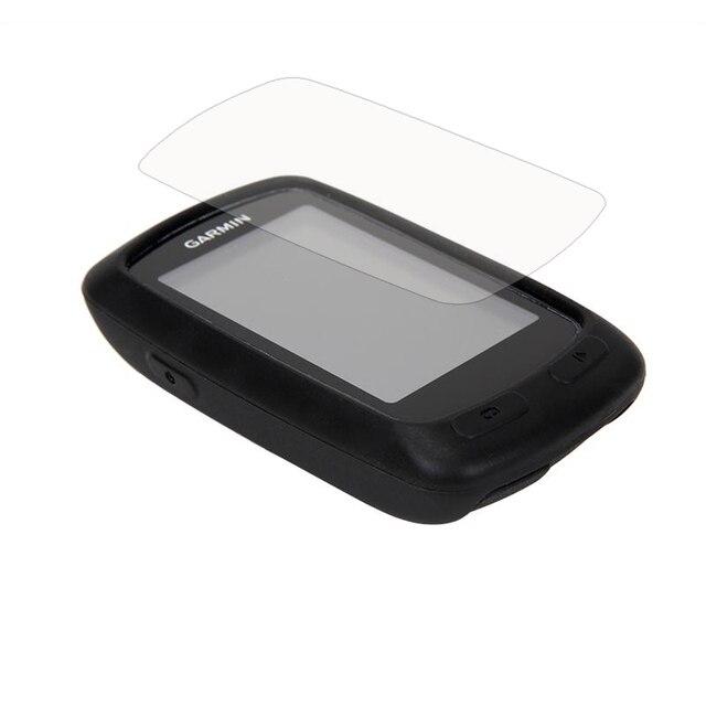 Funda protectora de goma de silicona para ordenador de ciclismo al aire libre + Protector de película de pantalla LCD para Garmin Edge 200/500/800 /810/520/1000