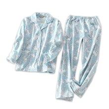 Милый кролик хлопок женские пижамные комплекты осень с длинным рукавом размера плюс домашняя одежда для женщин пижамный комплект pijama mujer invierno