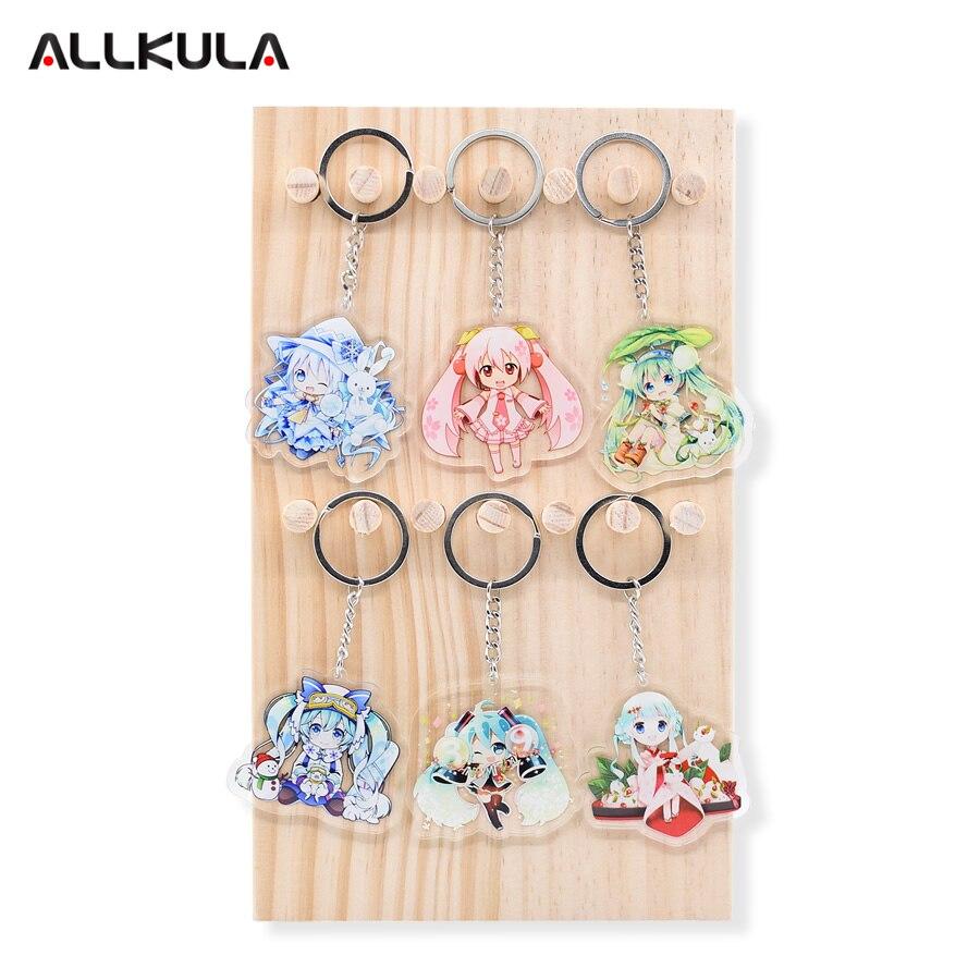 6 հատ / սահմանել Hatsune Miku Action Figure Keychain - Խաղային արձանիկներ - Լուսանկար 1