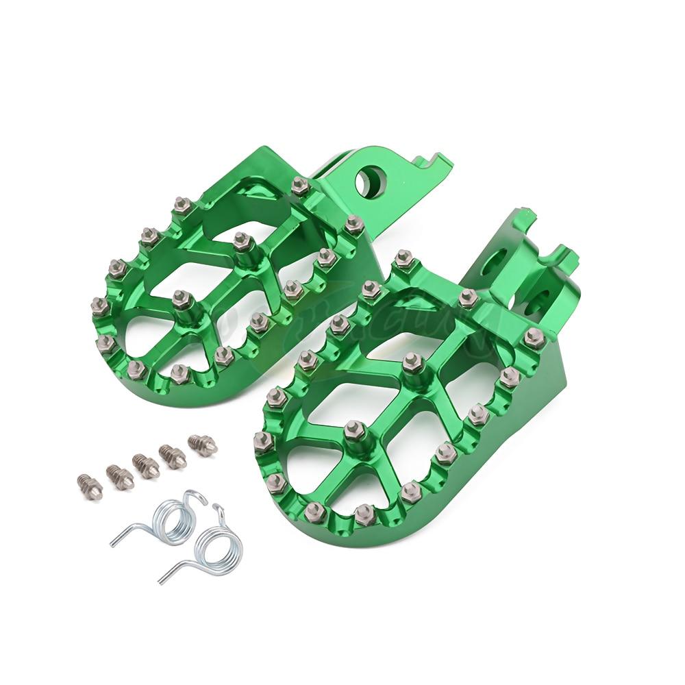 Motorcycle Aluminum FootRest Pegs Pedals For Kawasaki KX250F KXF250 2006-2016 KX450F KXF450 2007-2016 KLX450R 2008-2012 2013