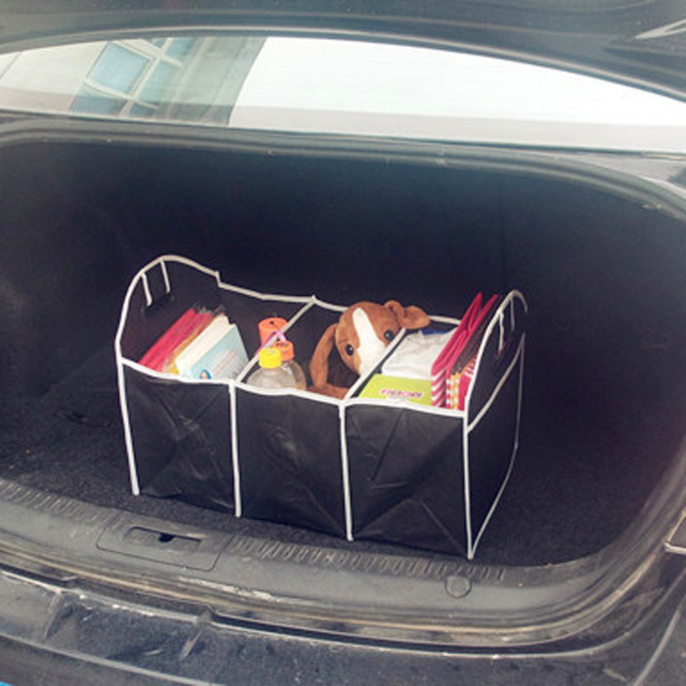 1PCS Collapsible Black Car Non-Woven Organizer Toys Food Storage Container Bags Box Car Stowing Styling Auto Accessories 14