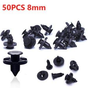 Image 3 - 50 Teile/satz 8mm Niet Retainer Plastic Auto Fastener Clip Auto Auto Fender Push typ befestigungs Clips für Nissan Livina TIIDA Sylphy