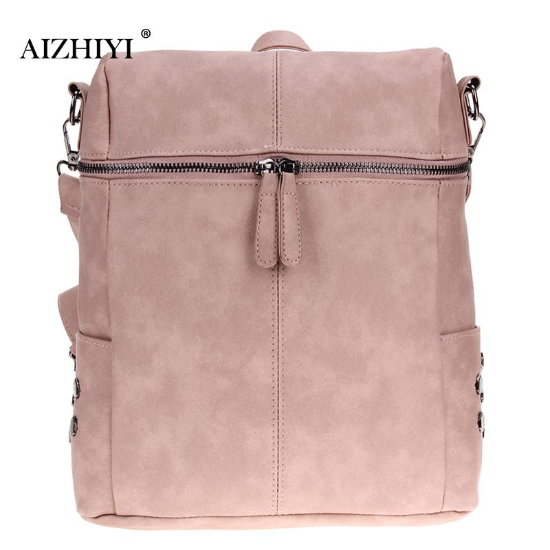 Simple Preppy Style Backpack Women PU Leather Backpacks For Teenage Girls School Bags Fashion Vintage Solid Shoulder Bag Black jmd backpacks for teenage girls women leather with headphone jack backpack school bag casual large capacity vintage laptop bag