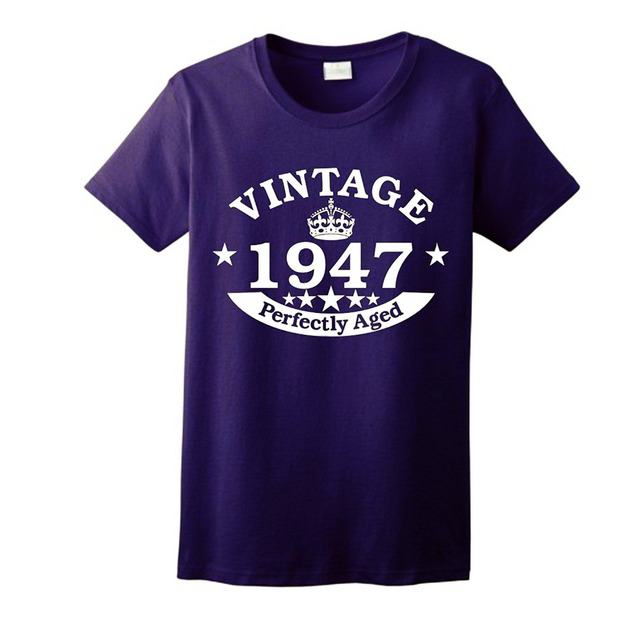 70th Birthday Gift Vintage 1947 Perfect Aged Crown Ladies T ShirtMost Popular Item