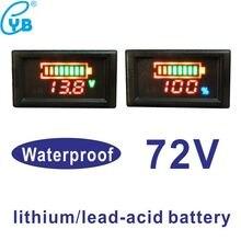 Свинцово-кислотный индикатор батареи для мотоцикла E-bike 72 в светодиодный цифровой водонепроницаемый тестер температуры литиевая батарея тестер емкости