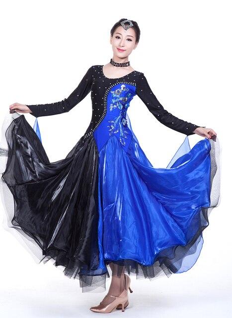 6f570849 US $96.0 |Nowoczesna sukienka do tańca towarzyskiego Jazz/Tango/Waltz  sukienka do tańca standardowa sala balowa sukienki na sprzedaż taniec  koronki ...