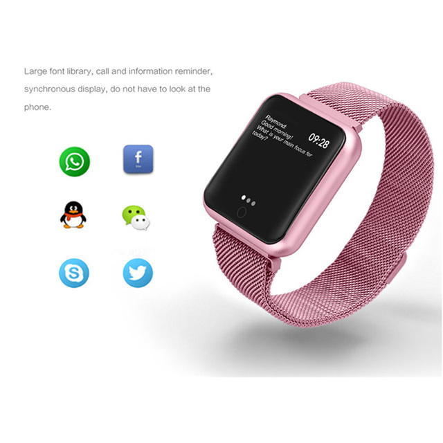 fitness bracelet watch P68 ip68 waterproof  for apple watch xiaomi  ios  Android with heart rate monitor smart band +earphone 5
