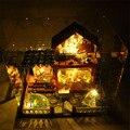 Подарок для Девушки Сборка DIY Миниатюрный Комплект Модель Деревянная Кукла Дом, Сон в Летнюю ночь Дом Игрушки с Мебелью и музыка