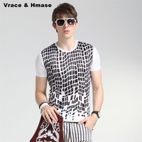 Summer 2017 New Arrival Soft Breathable Ice Silk Quality T Shirt American Style Leopard Print Fashion