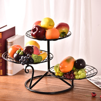 Sitting Room Fruit Bowl Creative Basin Home Water Fruit Basket Europe Type Dry Fruit Tray Multilayer