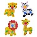 2 pcs Crianças 3D Puzzle Desmontagem Parafusos Nozes De Madeira Quebra-cabeças De Animais de Madeira Crianças Brinquedo Educacional Developmental Toy Presente