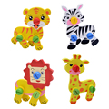 2pcs Children 3D Puzzle Disassembly Wooden Animal Puzzle Toy Kids Educational Developmental  Screws Nuts Wooden Toy Gift