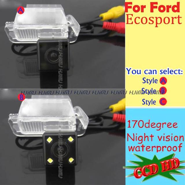 wired wireless HD LEDS night vision car camera Rear View Reverse camera for FORD Ecosport 2013 parking assist PAL/NTSC