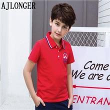 AJLONGER Children's Short Sleeve Polo Shirt Clothes Summer Boys New Fashion Kids Polo Shirts 5-14 Years стоимость