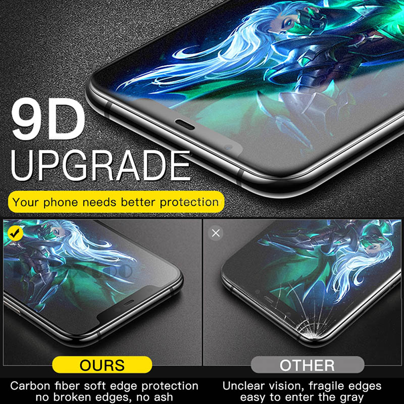 Frosted Matte Screen Protector Tempered Glass for Samsung Galaxy A9 A6 A8 Plus 11