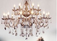 Smoke grey crystal chandelier luxury living room bedroom dining room upscale chandelier crystal chandelier lighting