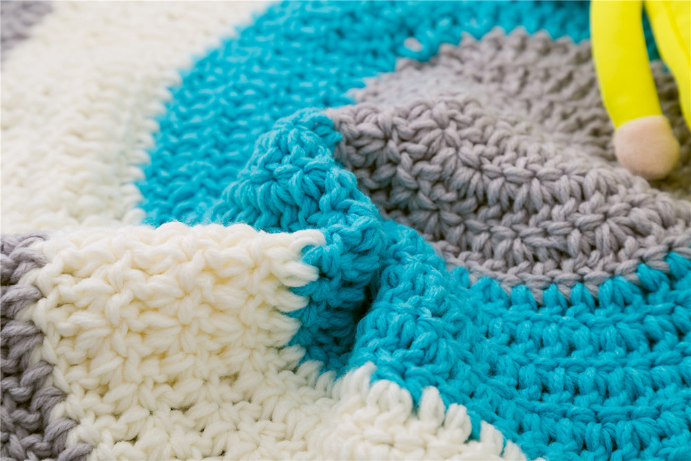 INS Children Premises Mat Hand-woven Mats Baby Play Mats Knitted Blanket Handmade Ball Children Premises Mat Crawling Mat (5)