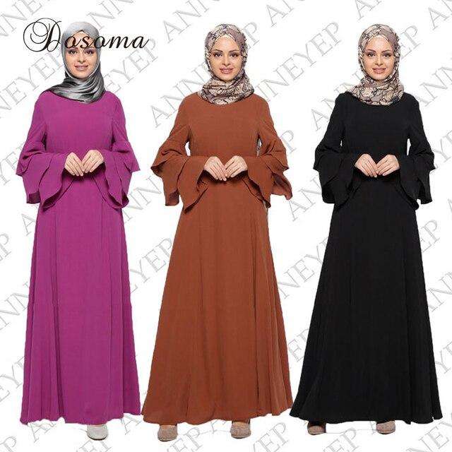 6f5fdbdb610 Mode Robe Musulmane Femmes Abaya Maxi Robe Arabe Longues Robes Islamique  Dubai Turquie Instant Hijab Islamique