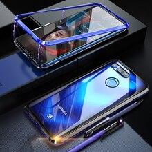 Boîtier dorigine en métal BOBYT pour Huawei Honor View 20 V20 verre trempé transparent et couvercle de pare chocs en aluminium pour Honor View 20 View20 V20