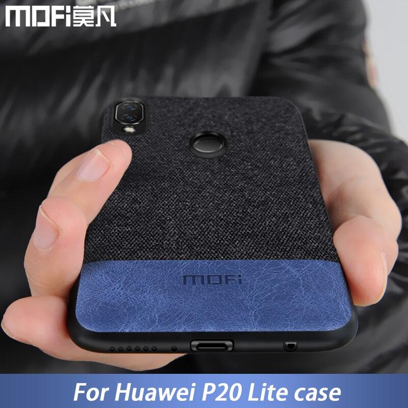 Pour Huawei P20 Lite housse de protection P20lite couverture arrière en tissu de Silicone Coque de protection MOFi Original pour Huawei P20 Lite étui