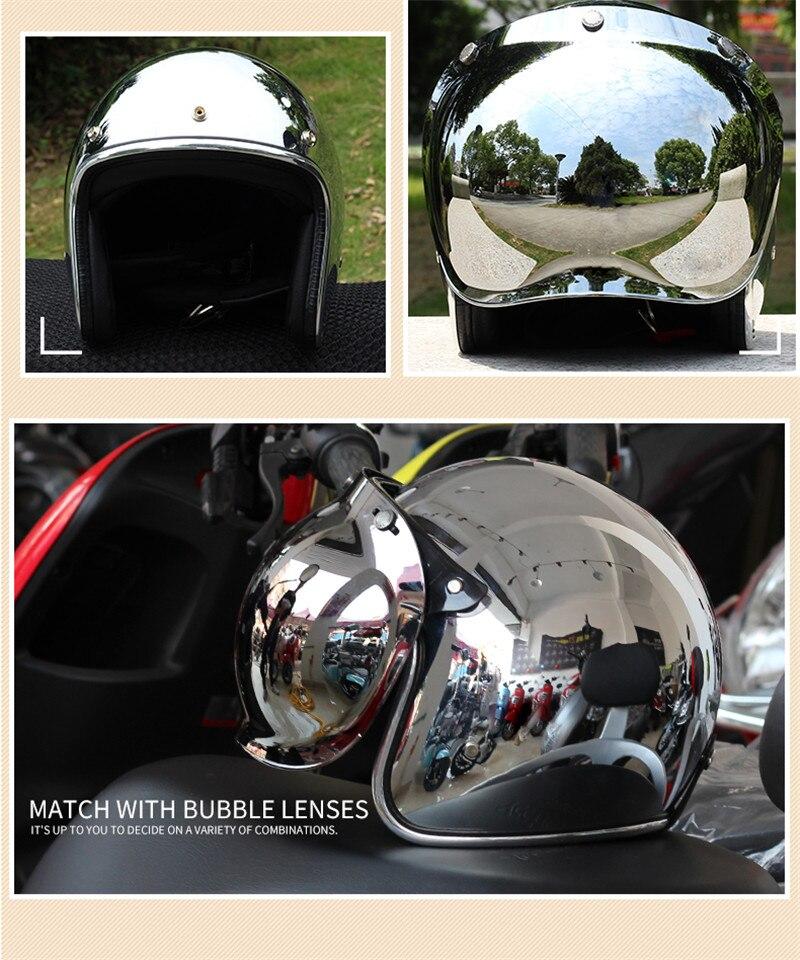 Зеркало серебро хром Vespa Новый Ретро Винтаж мотоциклетный шлем чоппер Скутер синтетический 3/4 с открытым лицом Casco