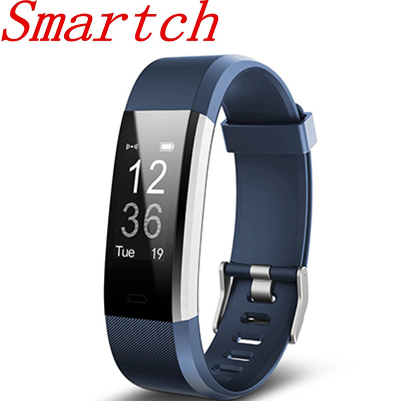 Smartch ID115HR PLUS Smart Bracelet Sports Wristband With Heart Rate Monitor Fitness Tracker Band Watch for Xiaomi Phone id115