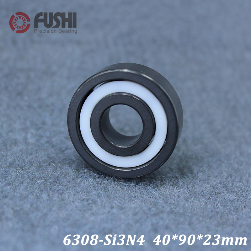6308 Full Ceramic Bearing ( 1 PC ) 40*90*23 mm Si3N4 Material 6308CE All Silicon Nitride Ceramic Ball Bearings axk 6308 full ceramic bearing 1 pc 40 90 23 mm zro2 material 6308ce all zirconia ceramic ball bearings