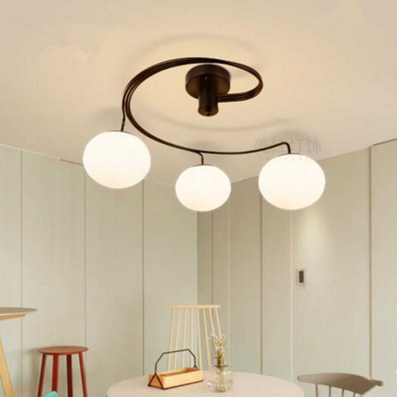 LED ceiling lamp European style lights iron glass ball lighting Bedroom living room light fixture led ceiling lamp european style lights iron glass ball lighting bedroom living room light fixture
