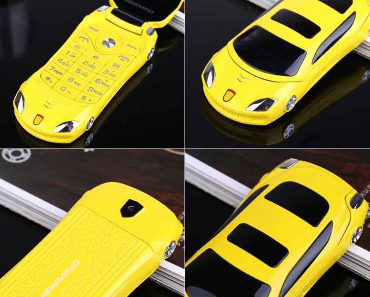 Image 4 - Newmind F15 Car Model Flashlight Dual Sim Cards Mp3 Mp4 FM Radio Recorder Flip Cellphone Car Model Mini Cell Mobile Phone P431-in Cellphones from Cellphones & Telecommunications
