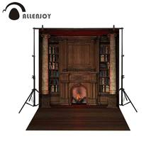 Allenjoy backdrop for photographic studio Vintage private library bookcase fireplace Roman column photo background photocall(China)