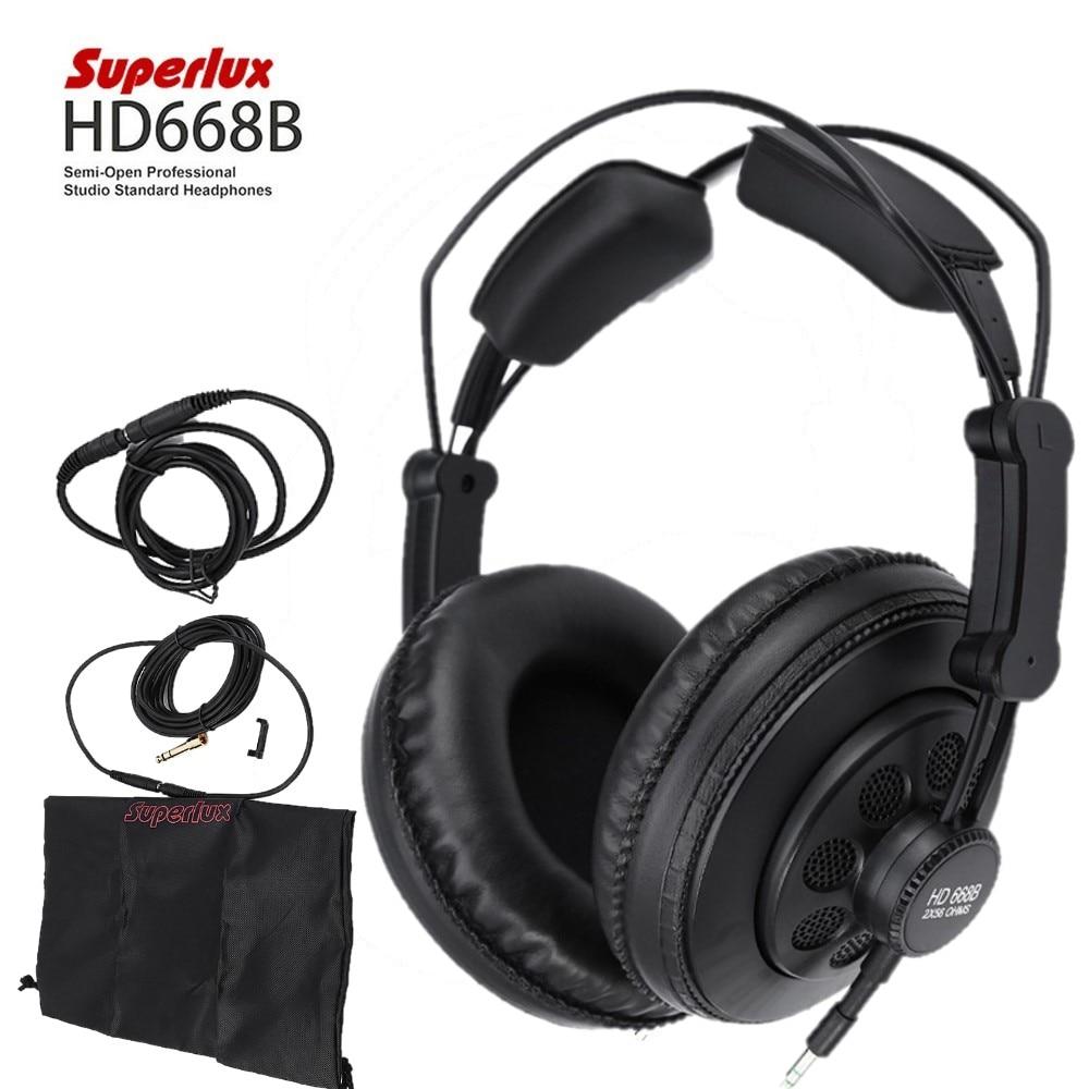 Original Superlux HD668B Professional Monitor Semi open Studio Standard Dynamic Headset  Monitoring For Music Earphones & Headphones    - AliExpress