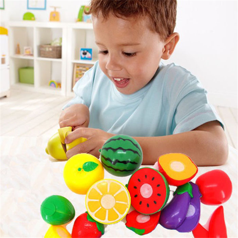Environment-friendly Plastic 11PCS/ Set Cutting Fruit Pretend Play Kitchen Toys Baby Kids Educational Toy Dropshipping #50