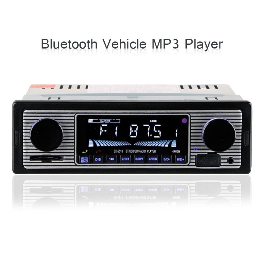 New Vehicle MP3 Playe Bluetooth 4 channel High Power Output In Dash Car Stereo Aux USB SD FM WMA MP3 WAV Radio Player