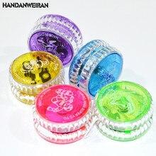 ФОТО free shipping 1pcs colorful    flashing ligh up yoyo  ball bearing string    trick yo-yo kids boy toys   gift