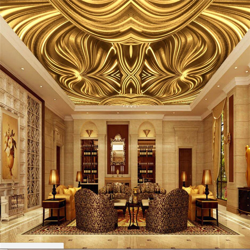 Beibehang Custom Wallpaper 3d Mural Gold Embossed European