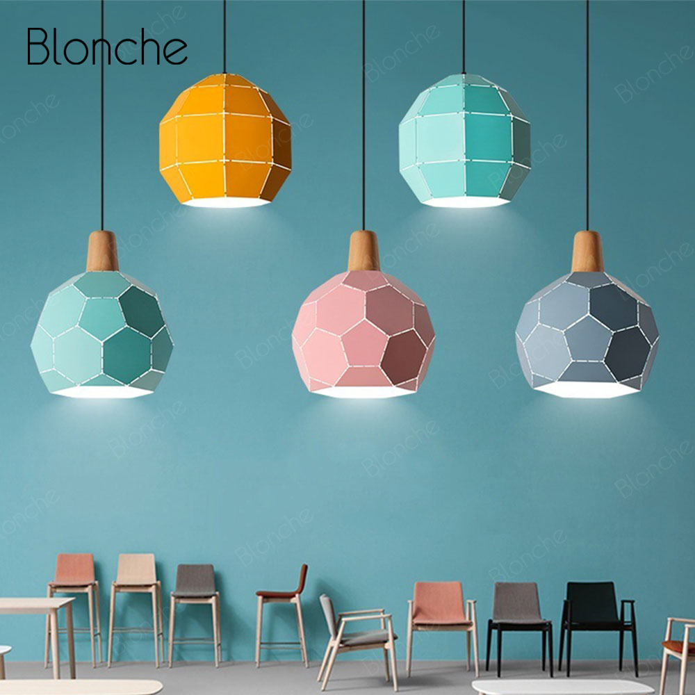 Modern Pendant Lights Football Lampshade Hanging Lamp Kitchen Dining Room Children Bedroom Nordic Lamp Home Deco Light FixturesModern Pendant Lights Football Lampshade Hanging Lamp Kitchen Dining Room Children Bedroom Nordic Lamp Home Deco Light Fixtures