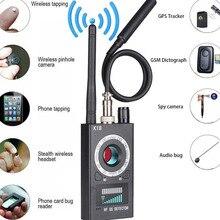 1 МГц-6,5 ГГц K18 Многофункциональный Анти-шпионский детектор камера GSM аудио ошибка искатель gps сигнал объектив RF трекер Обнаружение беспроводной продукции