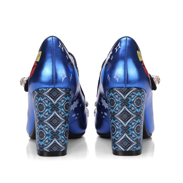 silber Pumpen Schuhe Gladiator Leder Sexy Spitz Janes Frauen Blaue Design Stilettos High Mary Blau Heels Echtes Frau nxWOzfwa