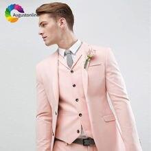 Костюм свадебный облегающий для мужчин 3 предмета (пиджак +