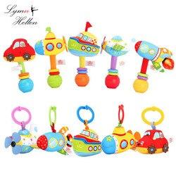 13 см Детские набитые Мультяшные Ручные погремушки-палочки, захватывающая плюшевая игрушка для новорожденных, Аппетитный кукольный колокол...