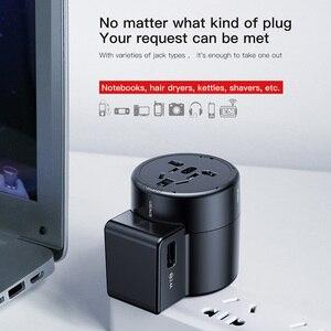 Image 3 - Baseus محول عام للسفر دوامة شاحن يو اس بي المزدوج USB 2.4A السفر الجدار شاحن التوصيل محول الطاقة محول للاتحاد الأوروبي الولايات المتحدة المملكة المتحدة الاتحاد الافريقي